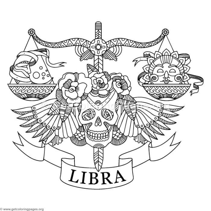 Free Instant Download Zentangle Libra Horoscope Sign Coloring Pages Coloring Coloringbook Coloringpages Libra Zodiac Tattoos Coloring Books Libra Tattoo