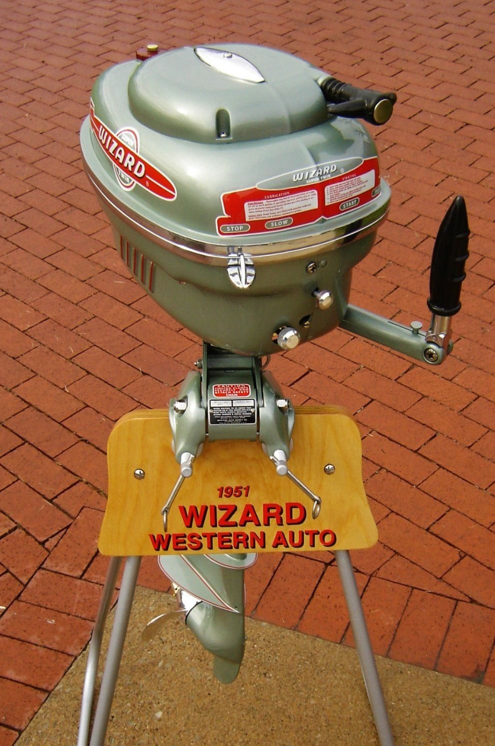 Wizard outboard motor fishing collectibles pinterest for Used outboard motors nj