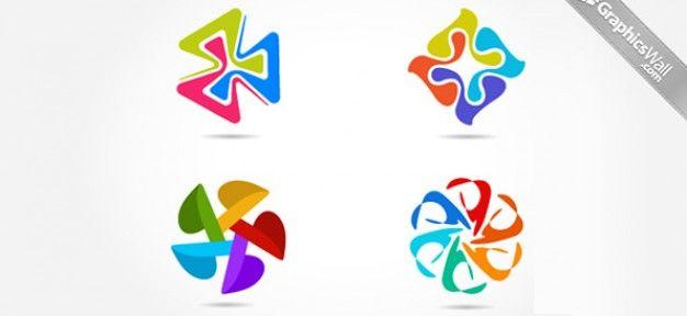 Coffee Themed Logo Design Set Free File