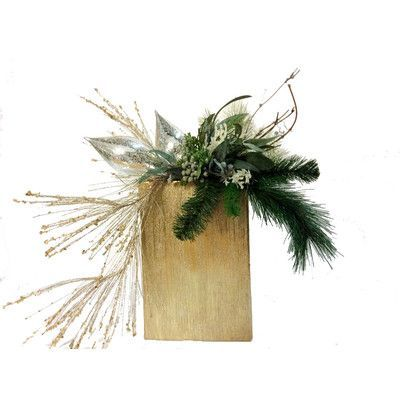 Creative Branch Elegant Pine Holiday Arrangement with Faux Accent