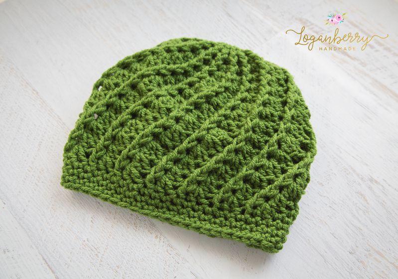 Free Crochet Pattern Spiral Crochet Beanie 4e5d9af38cb
