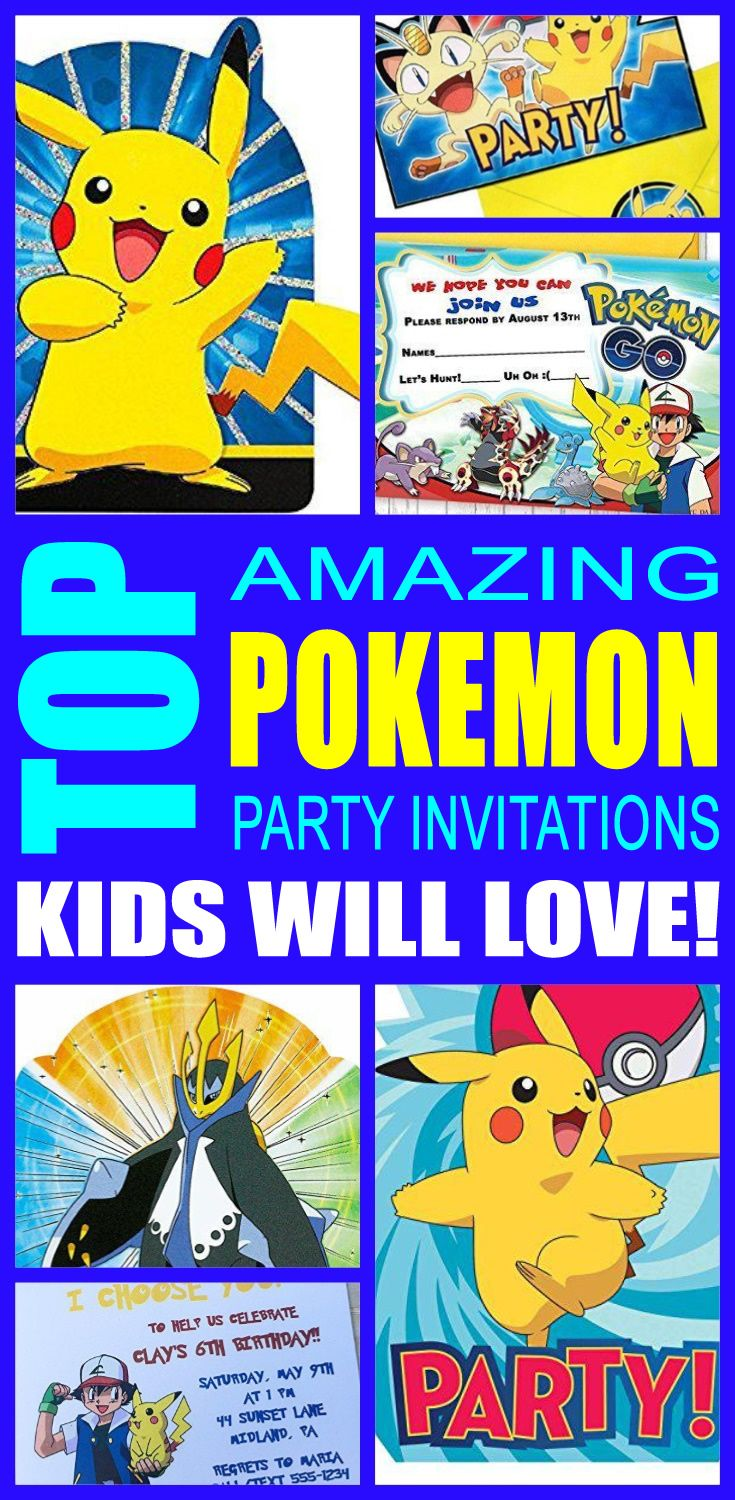 Top Pokemon Party Invitations Kids Will Love | Pokemon party, Party ...