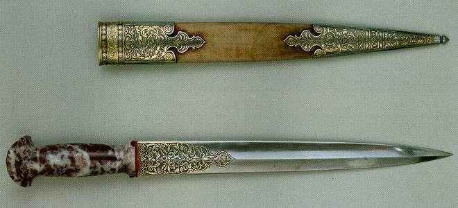 Dagger, Ivan Boyarshiniv (?) Russia, Zlatoust 1835-1840
