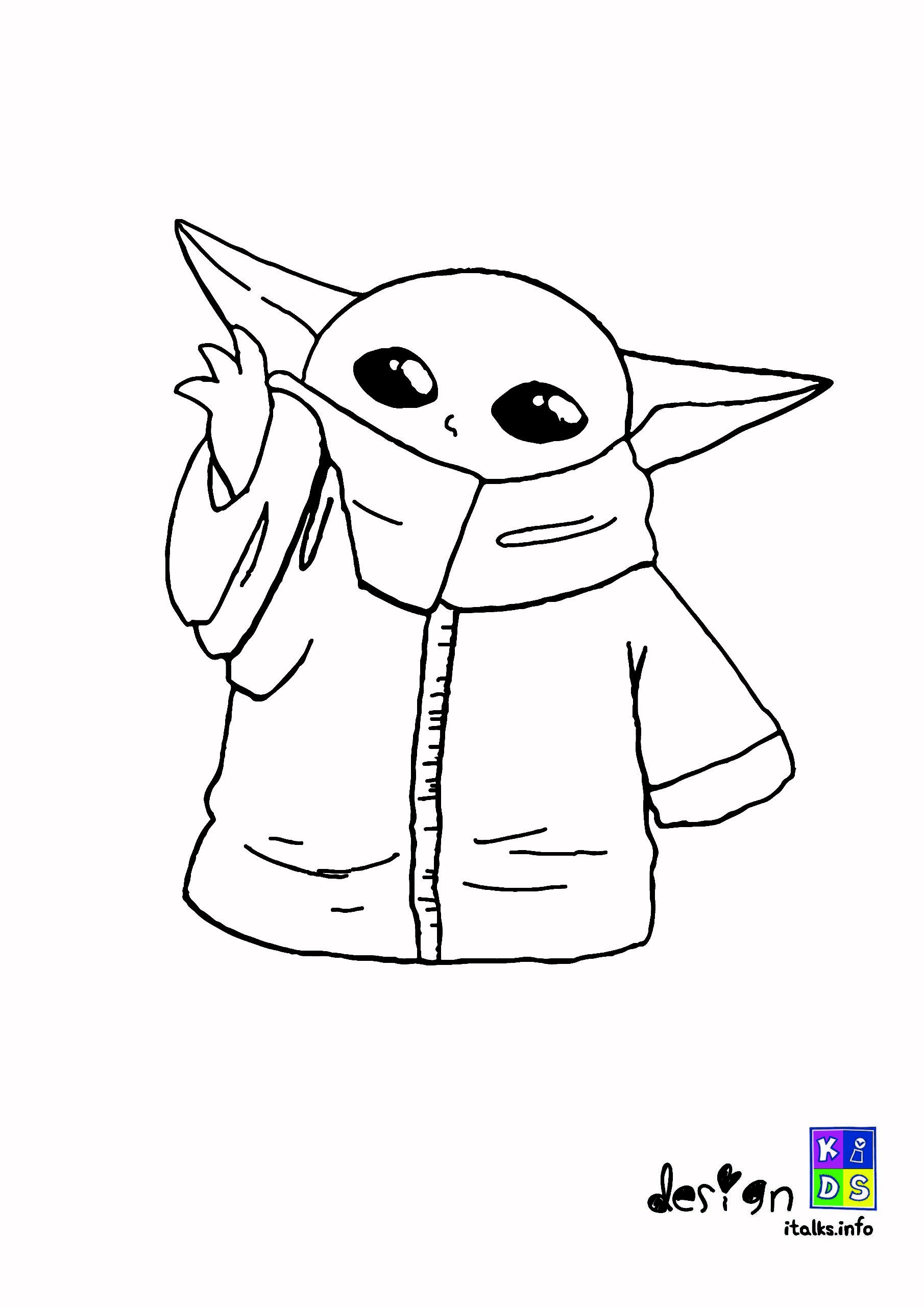 Free Printable Coloring Baby Yoda Christmas Coloring Pages Designs Collections