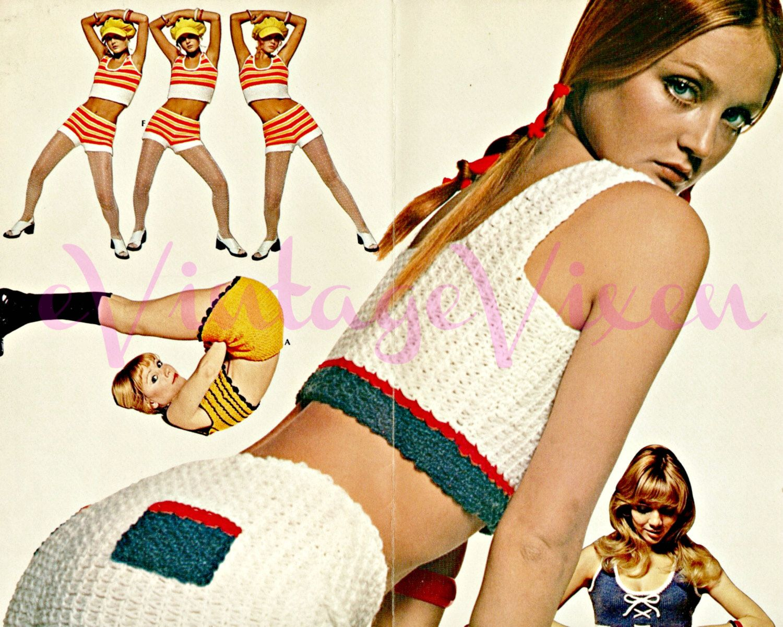INSTANT DOWNlOAD - PdF Pattern - 10 Knitting + Crochet PATTERNs 70s ...