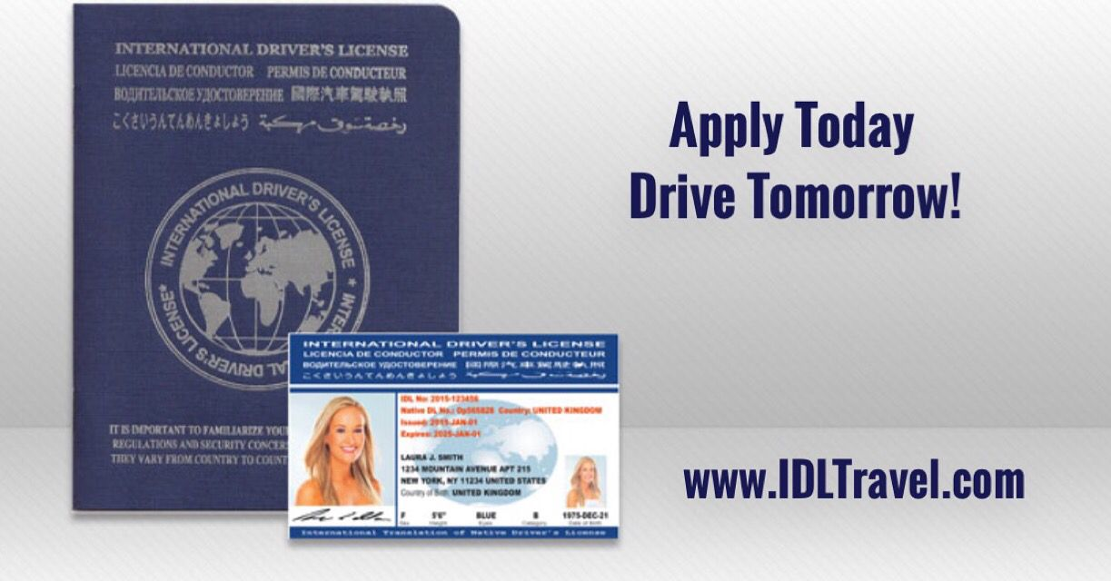 International driver's license by IDL travel www.idltravel