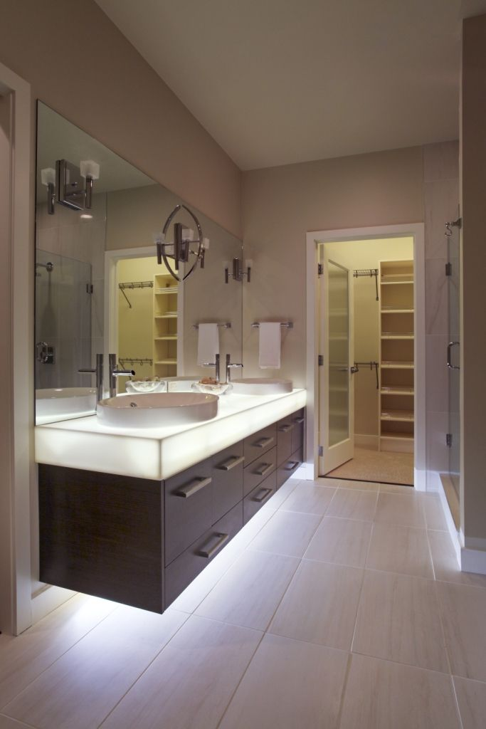 DuPont™ Corian® Illumination Series Countertop Dupont Corian, Solid Surface,  Powder Rooms,