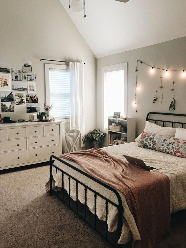 Matheney Platform Bed in 2020 | Cozy small bedrooms ... on Cheap Bedroom Ideas For Small Rooms  id=11679