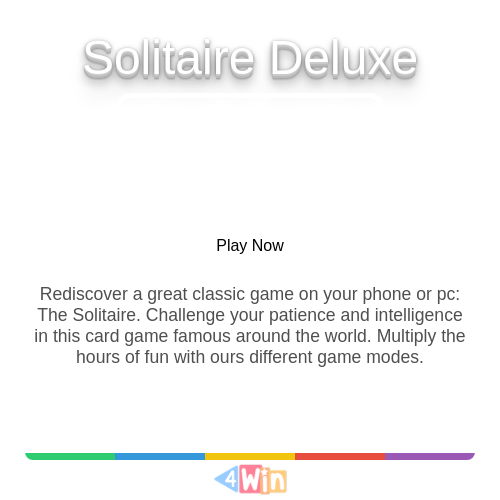 Solitaire Deluxe Game Free Online Games In 2020 Card Games Solitaire Card Game Solitaire Cards