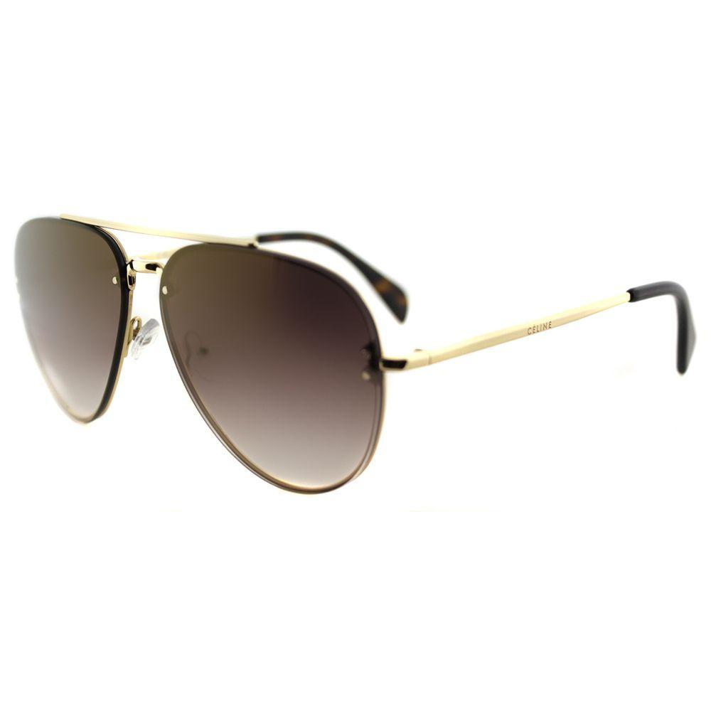 7cd0098ada5a Celine CL 41392 Small Mirror J5G_QH Aviator Brown Mirror Gradient Lens  Sunglasses, Women's