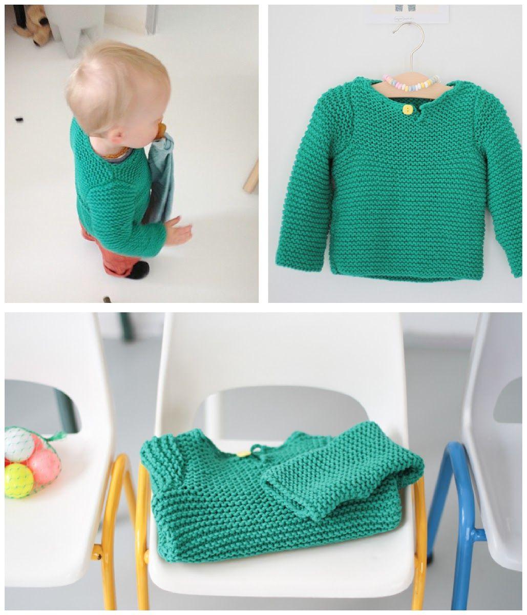les tricots de Granny. pull menthe à l\'eau, 2 ans, aiguilles 5 ...