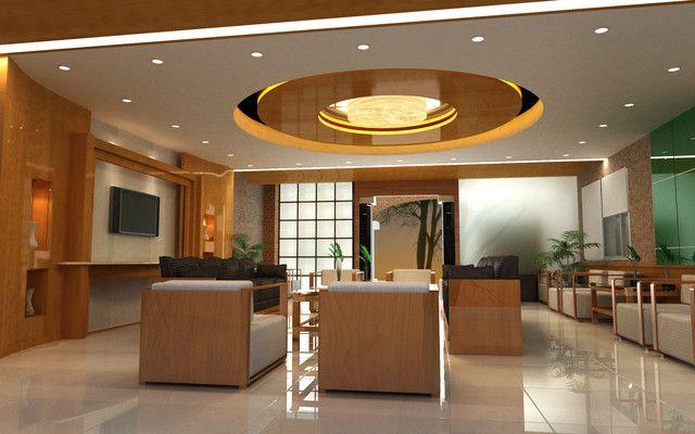 Commercial ceiling interior decor design realestate for Office ceiling design