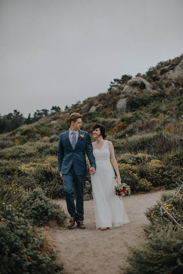 Natural California Wedding At Point Lobos State Reserve Image By Keely Montoya