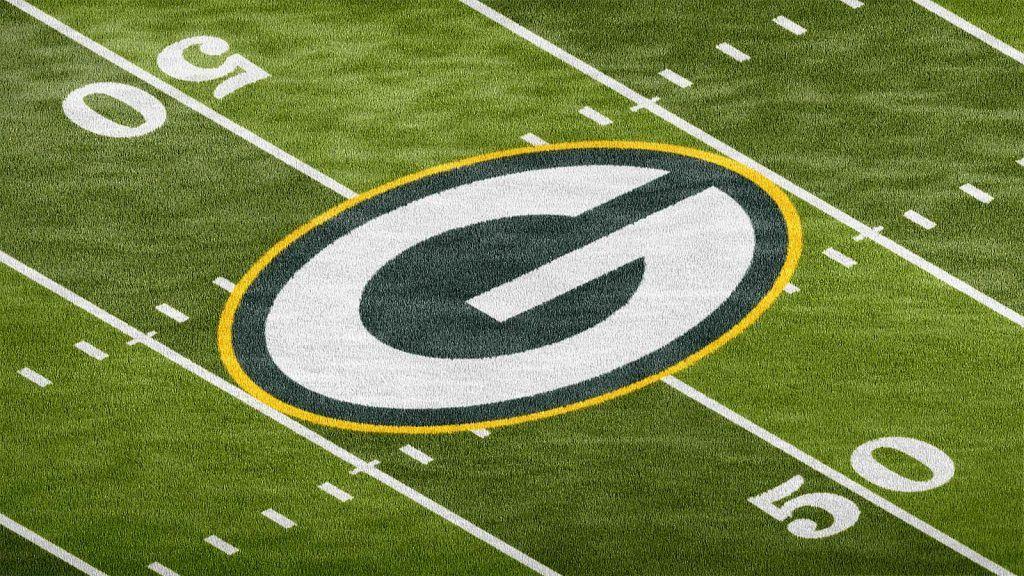 Download Green Bay Packers Football Field Logo Mockup Logo Mockup Football Field Photoshop Logo