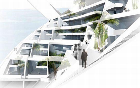 Green Living Berlin spiral tower suburban living in berlin green architecture design3