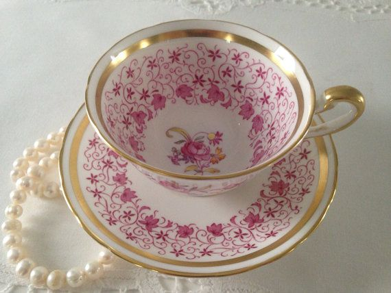 Royal Chelsea Tea Cup and Saucer Teacup Duo