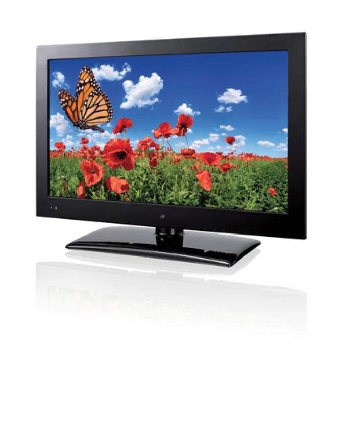 """The 19"""" LED TV features 1366x768 native resolution, 16:9"""