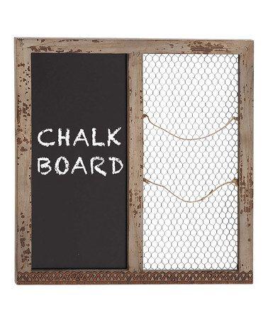 Another great find on #zulily! Chalkboard & Mesh Board #zulilyfinds
