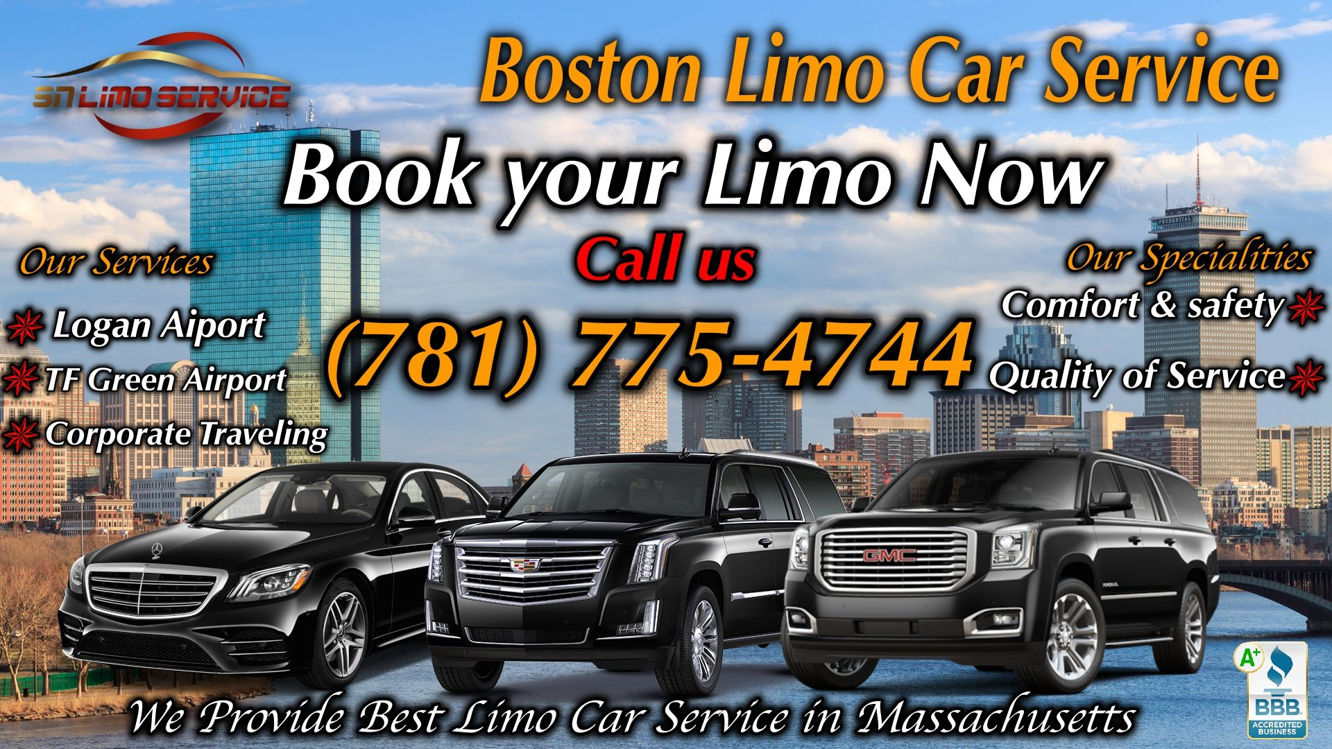 Boston Car Service Sn Limo Service Providing Best Logan Airport Pickup With Logan Shuttle Service In Enterprise Car Rental Airport Limo Airport Limo Service
