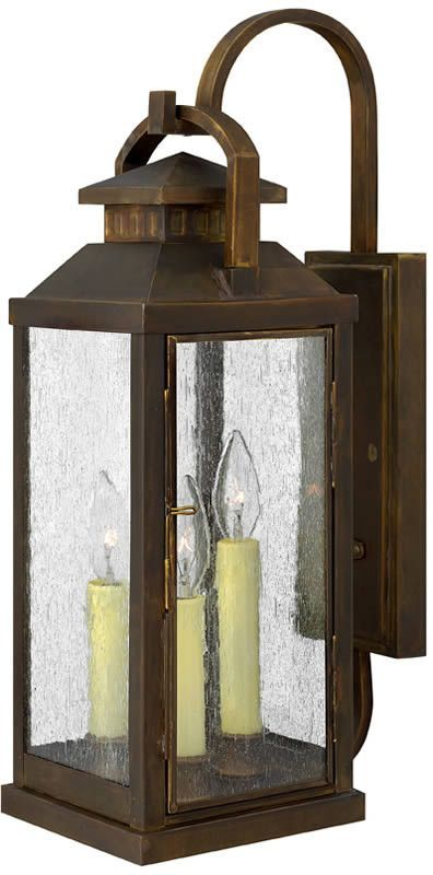"0-013498>22""""h Revere 3-Light Outdoor Wall Mount Sienna"