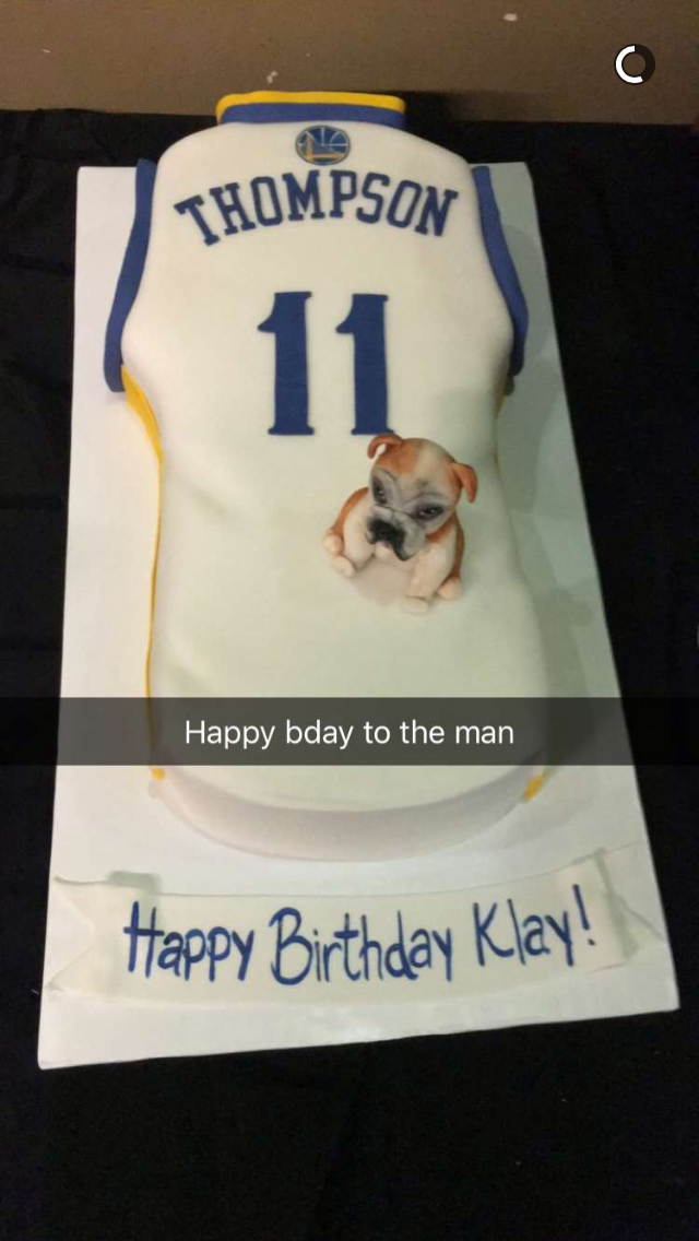 Klay Thompsons Birthday Cake Included A Hilarious Klay