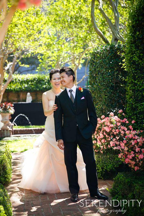 Wedding In Houston At River Oaks Garden Club River Oaks Garden Club Romantic Outdoor Wedding River Oaks Garden Club Wedding
