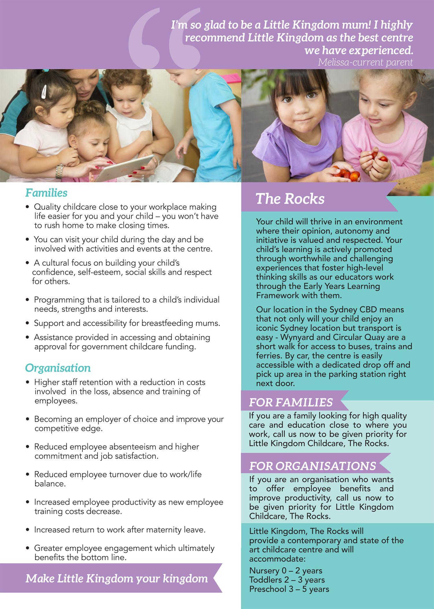 little kingdom childcare brochure little kingdom childcare