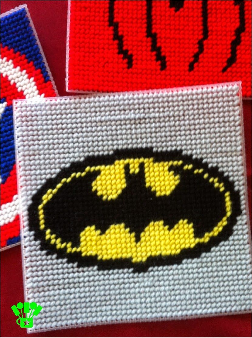 Super Hero Coaster Plastic Canvas Pattern Plastic Canvas