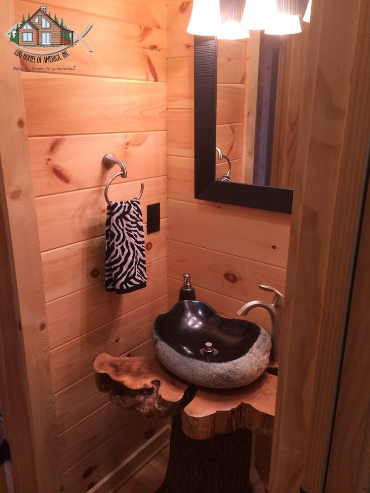 Very Cool Sink And Pedestal For A 12 Bath Bathrooms Log Home - Cool-bathrooms-2