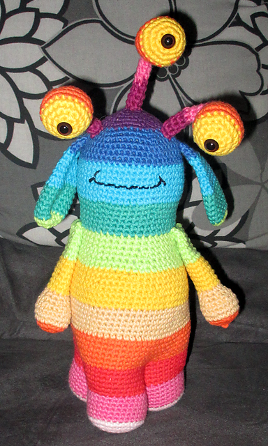 Free Pattern – Jimmy The Little Monster | DIY : knit / crochet ...