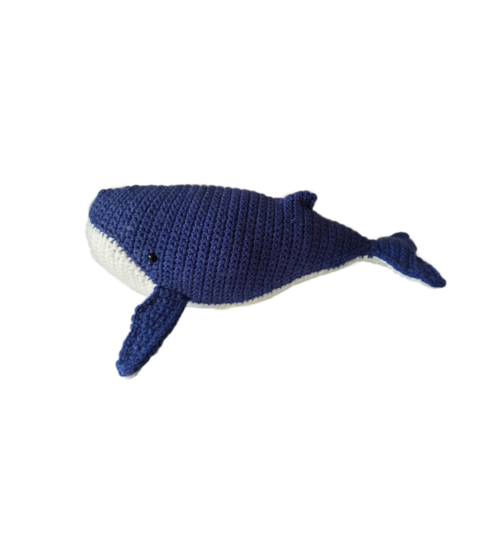 Free Crochet Humpback Whale Pattern Applique Tutorial | 549x500