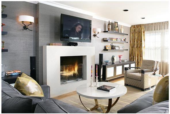 Decoraci n de salas con chimenea chimenea maria koldo - Chimeneas y ambientes ...