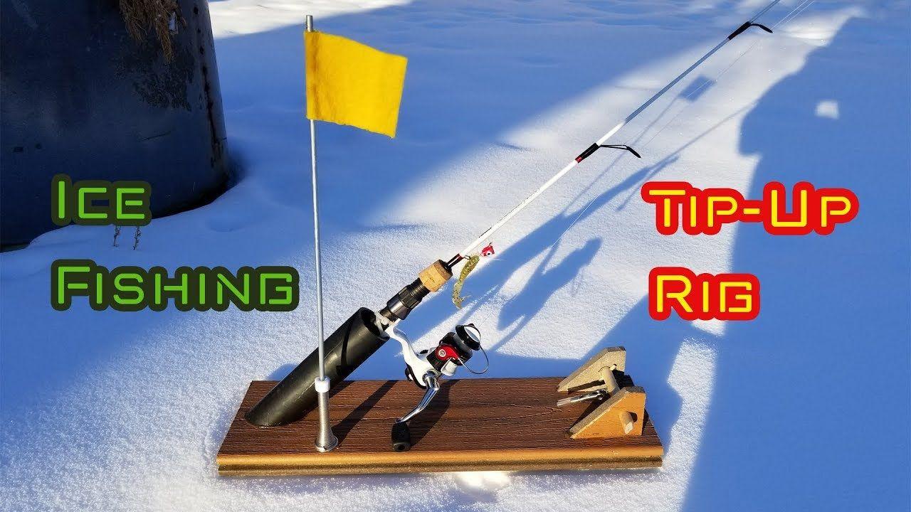 DIY Ice Fishing TipUp RIG in 2020 Ice fishing tip ups