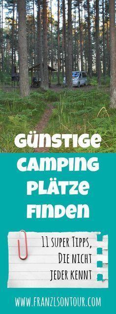 Günstige Campingplätze finden - 11 Tipps, die nicht jeder kennt #essentialsforcamping