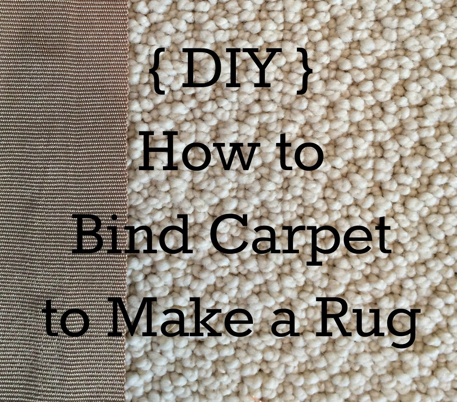 a blessed and blissful life: {diy} how to make a rug from leftover
