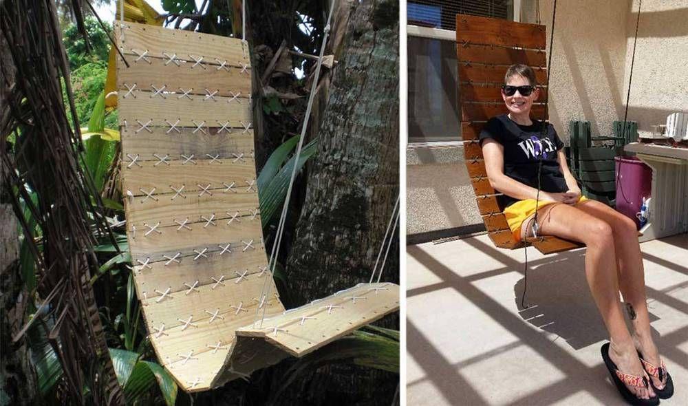 deux exemples de fauteuil suspendu en palette twotim221 et josepht10 sur. Black Bedroom Furniture Sets. Home Design Ideas