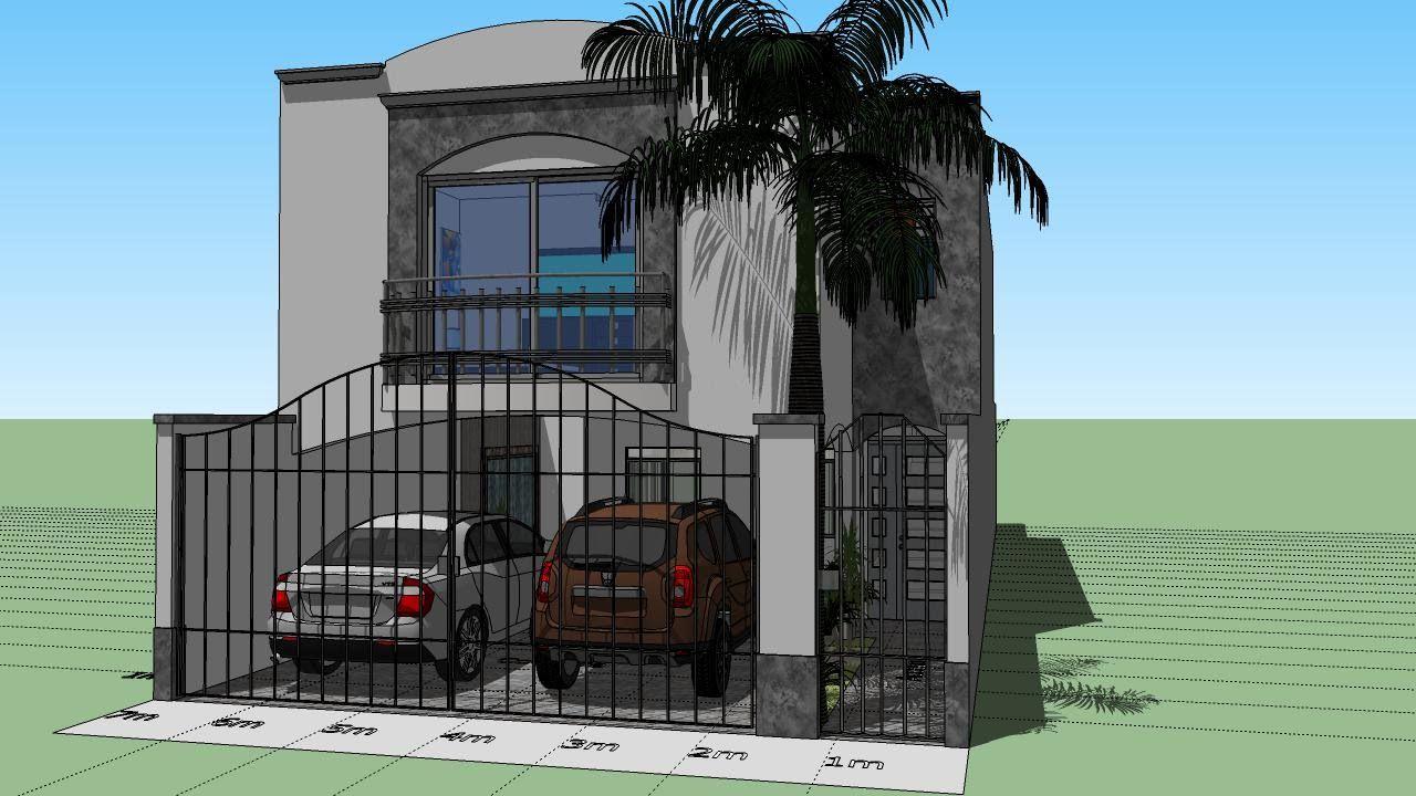 Casa De 7x20 Mts De Terreno Planos En 2019 Casas Casas