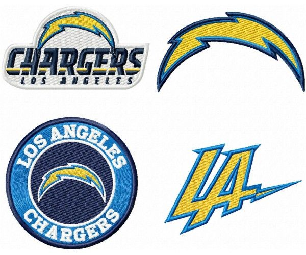 Los Angeles Chargers Logo Machine Embroidery Design For Instant Download Embroidery Designs Machine Embroidery Machine Embroidery Designs