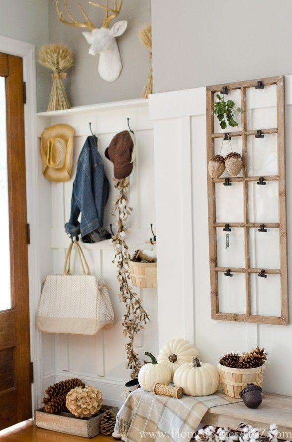 Fall Decorating Home Tour: Fall Decor Ideas | Mudroom, Decorating ...