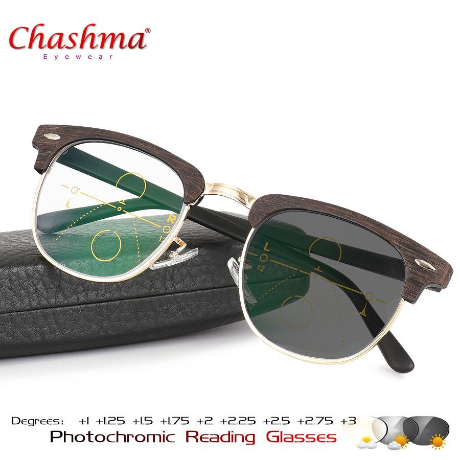 f4a7647edb Progresiva gafas multifocales transición gafas de sol fotocromáticos gafas  de lectura hombres puntos lector Cerca Lejos