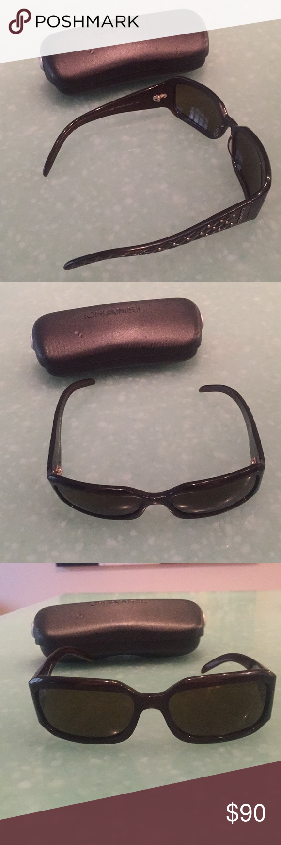 6c1fde025370 Chanel sunglasses Authentic Chanel Sunglasses with side studs with case. CHANEL  Accessories Sunglasses