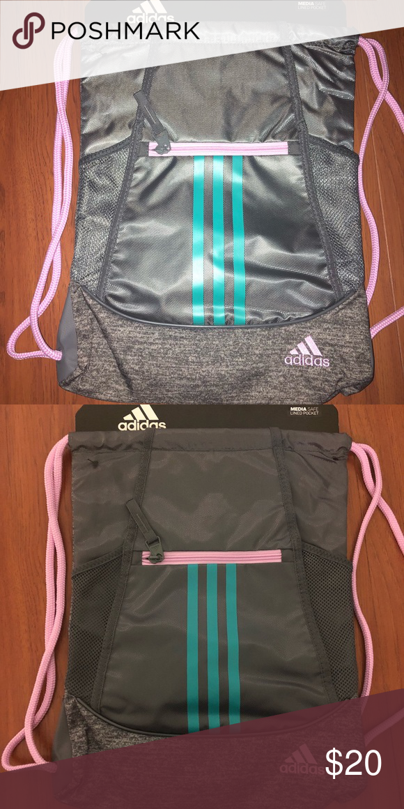c8be9cef219 adidas alliance II sackpack drawstring bag gray brand new with tags adidas  drawstring bag adidas Bags Backpacks