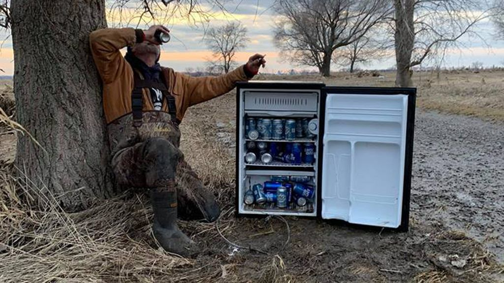 Nebraska residents find beer fridge washed up in field