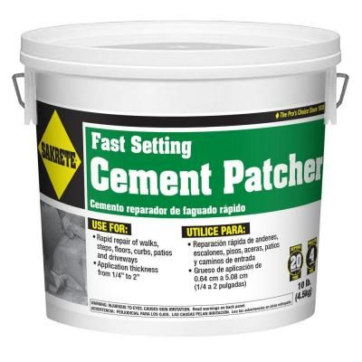 Sakrete 10 Lb Fast Setting Cement Patcher 60205004 The Home Depot Cement Concrete Repair