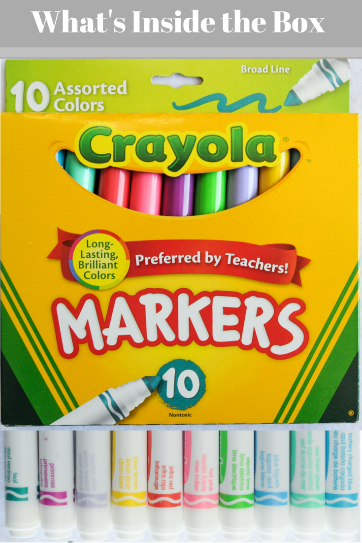 crayola broad line markers what s inside the box crayola markers