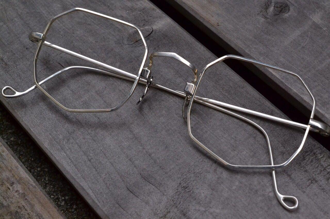 """4be706bb3ec2 NONAGON """"SHIELD"""" - Solakzade Original Silver 925 Glasses Man"""