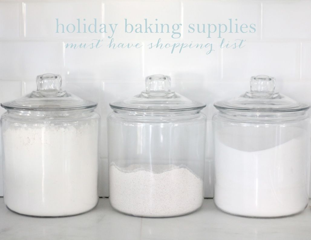 Holiday Baking Supplies - a list of essentials to prepare you for holiday baking