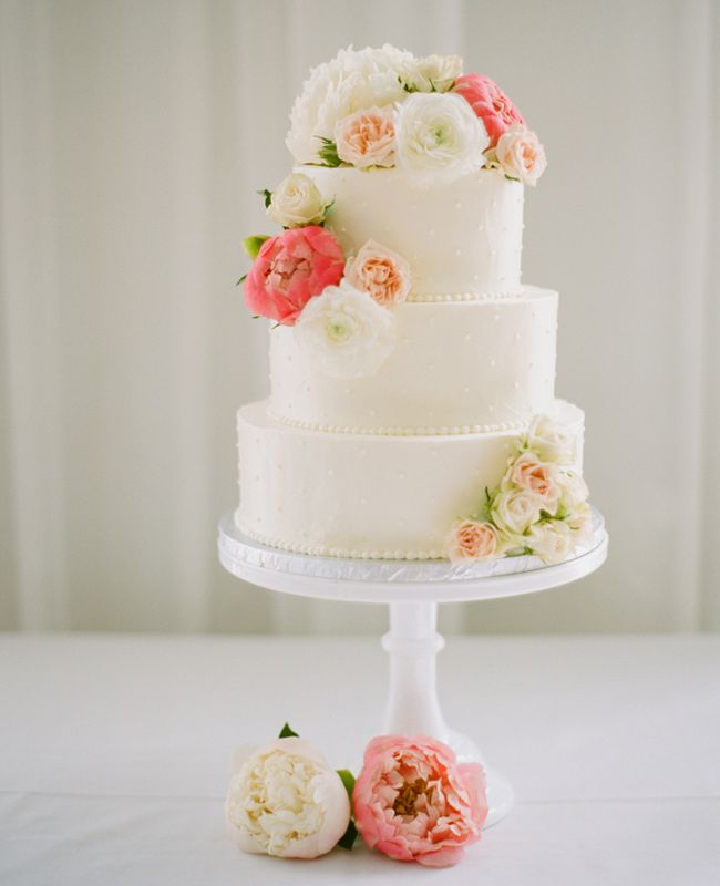 Pink and White Wedding Cake | Elisa B. Photography | Blog.TheKnot.com