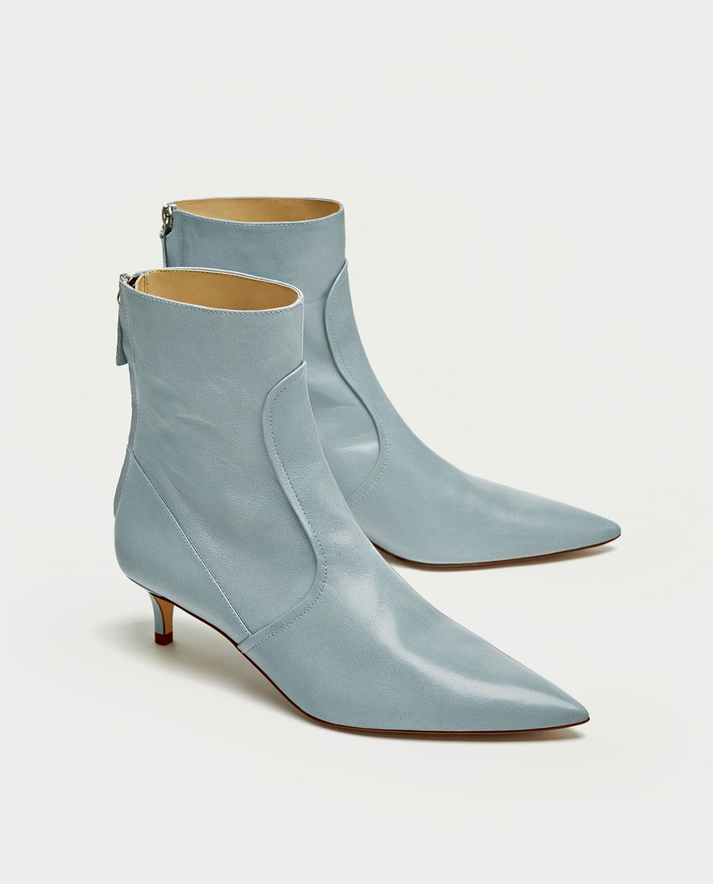 Mid Heel Leather Ankle Boots Shoes Accessories Sale Woman Zara United States Boots Leather Ankle Boots Leather Shoes Woman