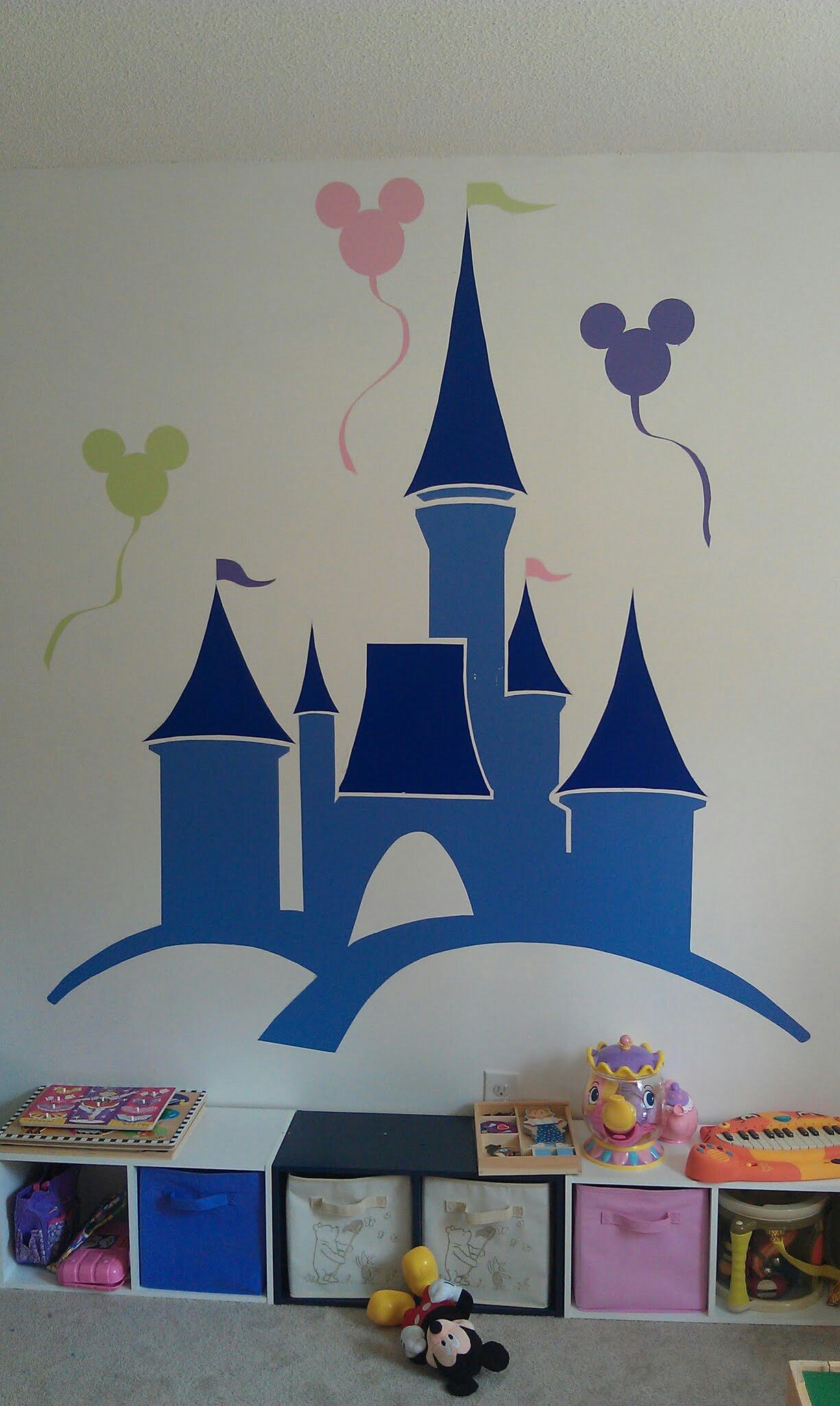 Playroom Mural For Our Little Princess